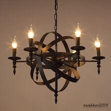Modern Black iron Chandelier Globe Pendant Light Ceiling Lamp LED Lighting Lamps
