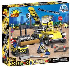COBI - Action Town Construction Crane & Forklift 330 Piece Block Set #NEW