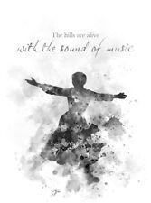 ART PRINT The Sound of Music Quote, B & W, Wall Art, Maria von Trapp, Gift Film