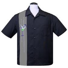 Steady Clothing Rockabilly Vintage Bowling Shirt Hemd - Martini Girl Pin-Up
