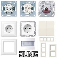 JUNG AS 500 - Steckdosen-Schalter-Dimmer-Rahmen-alpin weiß - wählbar