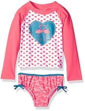 Kiko & Max Infant Girls Coral Rashguard Swim Set Size 3/6M 6/9M 12M 18M 24M