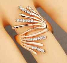 Rose gold Ring mit Kristallen Gold rose Ring Zirkonring großer Ring rosegold