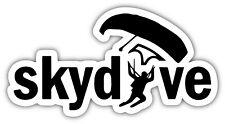 Skydive Skydiving Parachuting Vinyl Sticker Decal Car Truck Laptop Window