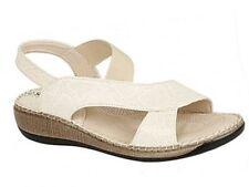 Womens Girls Cuba Beige Comfort Beach Casual Flat Wedge Summer Sandals UK 3 - 8