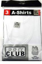 Lot 3 PRO CLUB A SHIRTS TANK TOP WHITE ProClub Mens Wife Beater Undershirt S-5XL