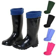 Unisex Fleece Wellington Boot Fleece Welly Liner Socks Soft Warm 3-5 6-8 9-11