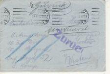 Feldpostbrief 23.6.15 mit Inhalt Zurück Empfänger vermisst gut erhalten (B00088)