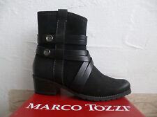 MARCO TOZZI bottines femme Bottine Noire Cuir Véritable NEUF