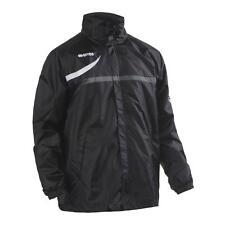 Errea Vancouver Sports Rain Jacket Black Football Training S M L XXL