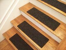 "Premium Carpet Stair Tread Sets - Berber Charcoal - 30"" x 8"""