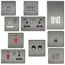 Sans vis nickel noir plaque plat Slimline socket usb éperon commutateur