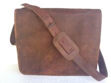 Men's Genuine Vintage Brown Leather Messenger Shoulder All Laptop Briefcase Bag