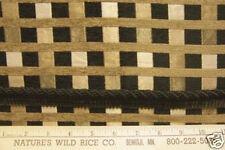 WOVEN CHECKS  & STRIPES Fabric W/TRIM!  MEDIIUM TO HEAVY WT