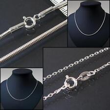 Kette Silber 925 Sterlingsilber Ankerkette Schlangenkette Niklarson Schmuck VE28