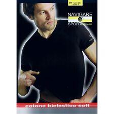 3 Maglie Intime Uomo Navigare Cotone Bielastico Manica Corta. OFFERTA