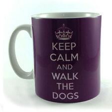 Nuevo Keep Calm Y Caminar los perros Taza Taza Regalo Presente Walker propietario del animal doméstico caminando
