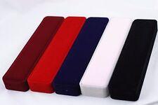 1 Piece Jewelry Gift Velvet Box for Bracelet Pendant Necklace Red Gray Black