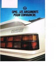 PUBLICITE ADVERTISING   1983     OPEL    LES ARGUMENTS pour convaincre (4 pages)