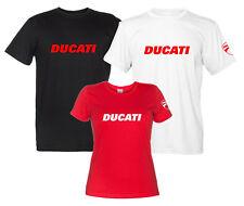 Maglietta Ducati T-Shirt Uomo Donna Replica Logo Moto Motocicletta
