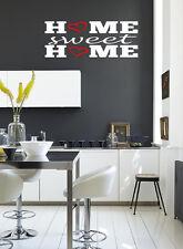 HOME SWEET HOME Hearts Wall Art / Decalcomania Citazione Adesivo Cucina - / vita!!!