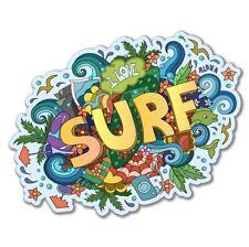 Surf Art Vinyl Sticker - SELECT SIZE