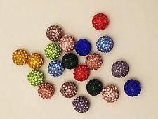 Shamballa Rhinestone Pave Disco Bead, Grade A for Jewelry Making,  10mm