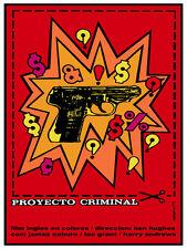 Proyecto Criminal Red vintage film POSTER.Graphic Design. Art Decoration.3135