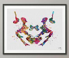 Rorschach Inkblot Test Card 3 Watercolor Print Psychology Psychiatry Clinic-1289