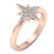 Diamond White Yellow Rose Gold 14.70Mm Anniversary Wedding Ring I1 H 0.30Ct Real