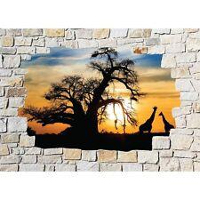 Adesivi parete inganna l'occhio pietra decocrazione Safari 8533