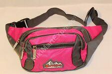 Sport Fanny Pack  Pocket Travel Waist Belt Bag WaterProof Material 2 Colors