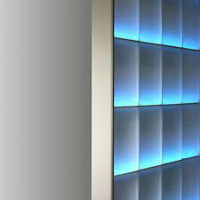 Abschlussprofil für 8cm starke Glasbausteine Glasstein in Aluminium satiniert