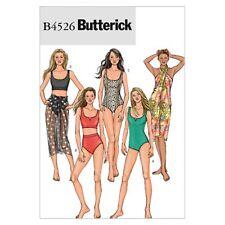 Butterick Ladies Easy Sewing Pattern 4526 Swimming Costume, Bikini & Saro...