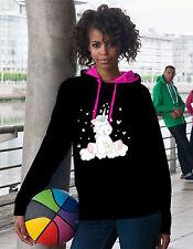 Kapuzensweatshirt Hoodie Damen Pullover süss kawaii bunt Unicorn Einhorn cutie