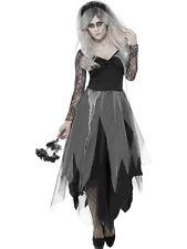 Novia Fantasma Zombie Cementerio Para Adultos Damas Vestido Elaborado Halloween Traje de Disfraz