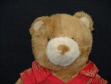 BUILD A BEAR RED SATIN SHIRT JEAN SKIRT PLAID BAG PURSE PLUSH STUFFED ANIMAL TOY
