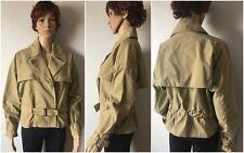 DKNY Donna Karan Women's Belted Cotton Yoke Moto Jacket B1630720, Dune, Size S-L