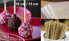 25/50 Quality Lollipop Sticks Cello Bags Twist Ties DIY Set pop clear cake long