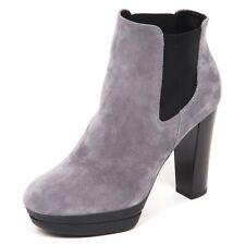 E4532 tronchetto donna grey HOGAN H313 scarpe suede boot shoe woman