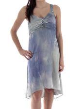 leidiro Trägerkleid Dress L7092P142 blau Seide Unterkleid Knöpfe Italy