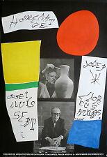 Joan Miro Affiche Originale Litho Quadri 1972 Abstrait