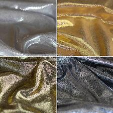 Metallic Shiny Korean Knit Jersey Lame Dot Foil Dress Dance Fabric - Per Metre