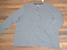 Croft & Barrow Long Sleeve T-Shirt Gray Henley Shirt Big & Tall Sizes