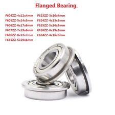 Miniature Deep Groove Ball Flanged Shielded Bearings F604ZZ-F635ZZ Bearing Steel