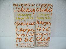 Clinique Happy To Be Parfum Spray 50ml-100mlL LIST OF CHOICE NIB NEW SEALED BOX