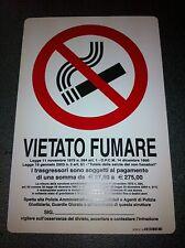 CARTELLO VIETATO FUMARE IN PVC CM 20 X 30