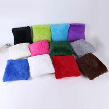 Soft Fur Plush Square Pillow Cases Throw Cushion Covers Sofa Waist Home Decor