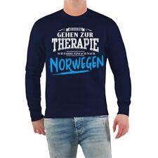 Pullover Sweatshirt Therapie? Ich fahr nach NORWEGEN Angler Tour Urlaub Sprüche
