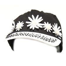 6553G cappellino baseball bimba MISS BLUMARINE cotone nero bianco cappello hat k